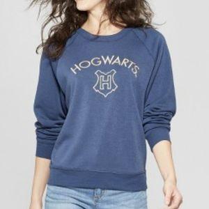 Harry Potter blue embroidered Hogwarts sweatshirt